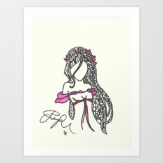 Giselle Zen Tangle Art Print