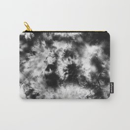 Black and White Tie Dye & Batik Carry-All Pouch