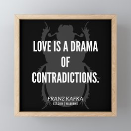 35   |  Franz Kafka Quotes | 190517 Framed Mini Art Print