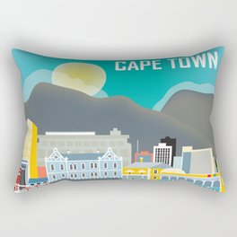 Cape Town, South Africa - Skyline Illustration by Loose Petals Rectangular Pillow