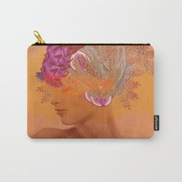 Woman in flowers III Carry-All Pouch