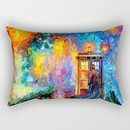 The 10th Doctor Starry The Night Rectangular Pillow