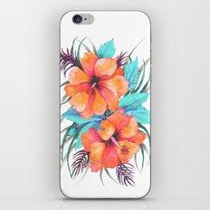 TROPICAL FLOWER {orange hibiscus}  iPhone & iPod Skin