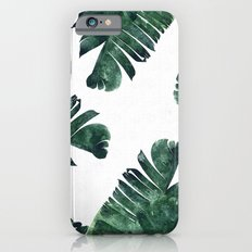 Banana Leaf Watercolor Pattern #society6 Slim Case iPhone 6