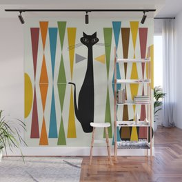 Mid-Century Modern Art Cat 2 Wall Mural
