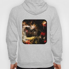 guinea pig colorful side portrait wsee Hoody