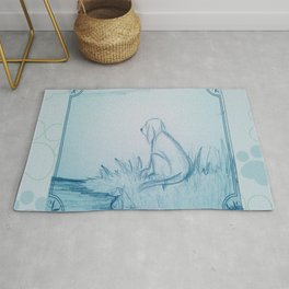 Lonely Dog Rug
