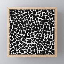British Mosaic Black and White Framed Mini Art Print