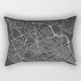 Waterloo Map, Canada - Gray Rectangular Pillow