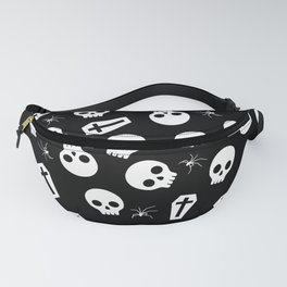 Skull, spider and chest  - Halloween pattern Fanny Pack