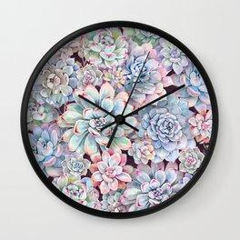 succulent garden 3 Wall Clock