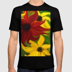 Sunflower Tango Black MEDIUM Mens Fitted Tee