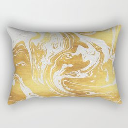 White Dragon Marble Rectangular Pillow