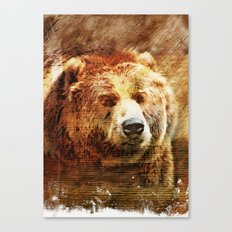 Rustic Grizzly Fine Art Print Canvas Print