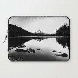 Fantastic Morning - Mount Hood Reflection Black and White Laptop Sleeve