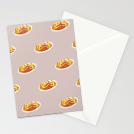 What I miss the most: Food Pattern Stationery Cards