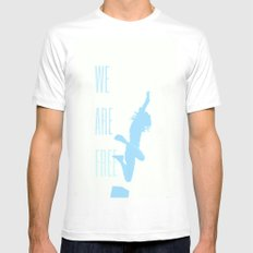 FREE (with text) Mens Fitted Tee White MEDIUM