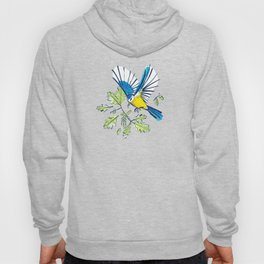 Flying Birds and Oak Leaves Hoody