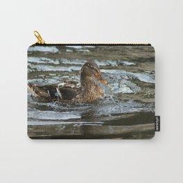 Mallard Duck Swimming Carry-All Pouch