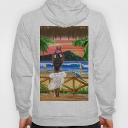 Hawaiian Sunset Hula Dancer Hoody