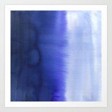 Flood Blue Art Print