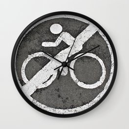Look, Ma! No Hands  Wall Clock