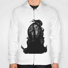 leonardo black and white Hoody