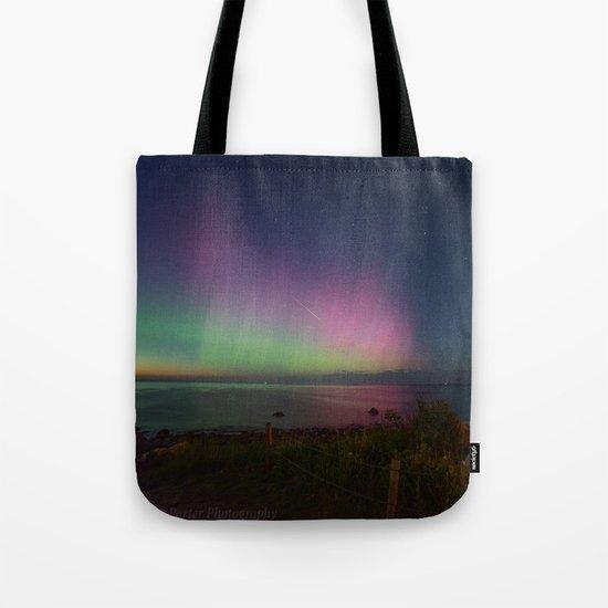 Pink Aurora at Old Garden Beach Tote Bag