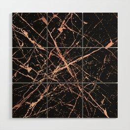 Copper Splatter 091 Wood Wall Art