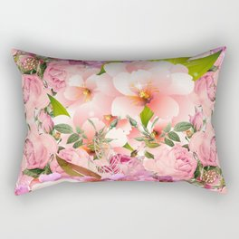 Natural Pink Flowers Rectangular Pillow