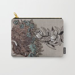 Buffalo Wildflower and Magnolias Carry-All Pouch