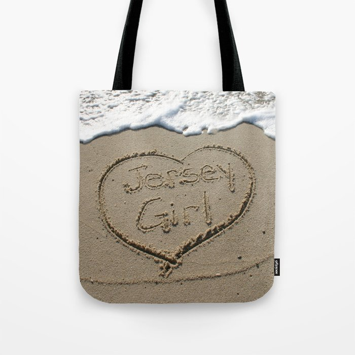 Jersey Girl on the Jersey Shore Tote Bag