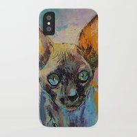 sphynx iPhone & iPod Cases featuring Sphynx by Michael Creese