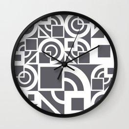 Bauhaus 39 Grey&White ed. Wall Clock