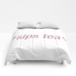 sipping tea Comforters