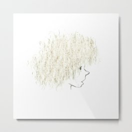 Curly hair Metal Print