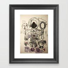 Weighing Fake Hearts Framed Art Print