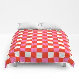 Red Chessboard Comforters