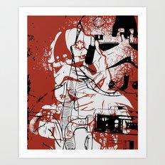 AT-AT Driver and Navigator Art Print