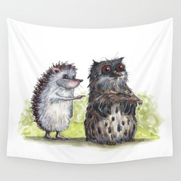 Hedgehog's here Wall Tapestry