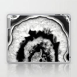 Gray Black White Agate #1 #gem #decor #art #society6 Laptop & iPad Skin