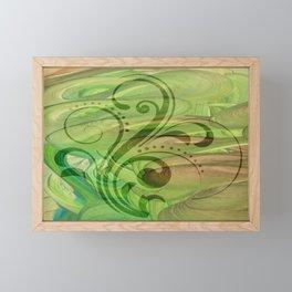 Seven of Wands Framed Mini Art Print