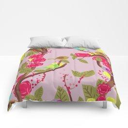 Vintage Birds and flowers Comforters