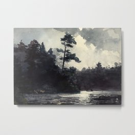 Adirondack Lake by Winslow Ho mer (1889) Metal Print
