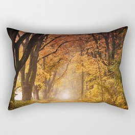 Autumn Fall Forest Path -  Nature Landscape Photography Rectangular Pillow