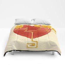 Art Nouveau Heart Comforters