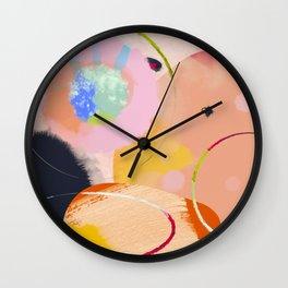 circles art abstract Wall Clock