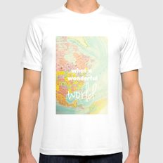 What a Wonderful World MEDIUM Mens Fitted Tee White