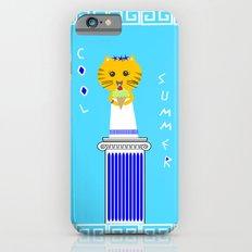 Greek Cat Eating Ice Cream Slim Case iPhone 6s