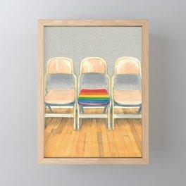 Rainbow Chair Framed Mini Art Print
